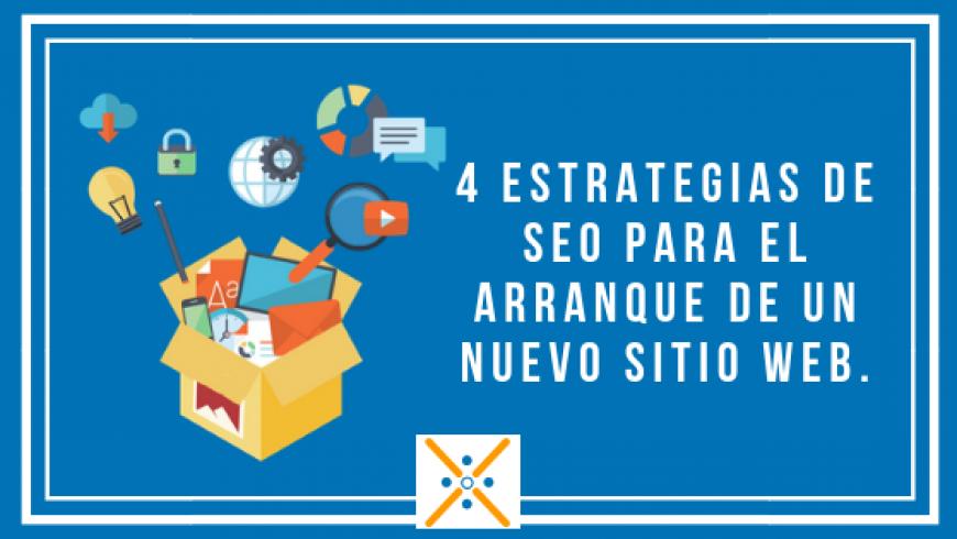 4 estrategias de SEO para el arranque de un nuevo sitio web.