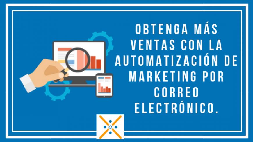 Obtenga más ventas con la automatización de marketing por correo electrónico.