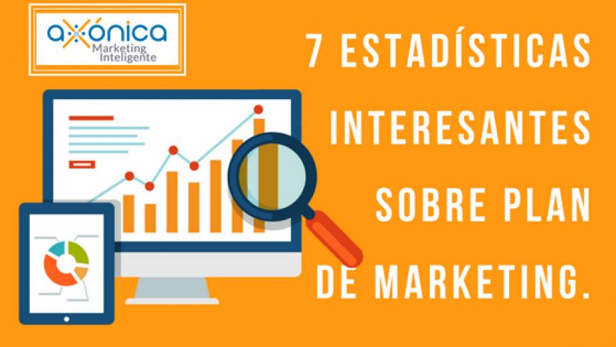 7 Estadísticas interesantes sobre plan de marketing.