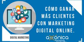 Cómo ganar más clientes con marketing digital online.