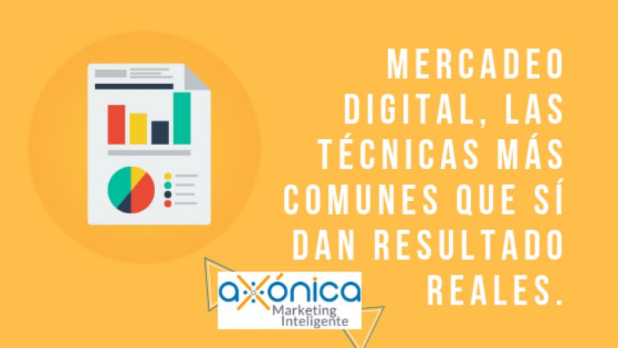 Mercadeo Digital, las técnicas más comunes que sí dan resultado reales.